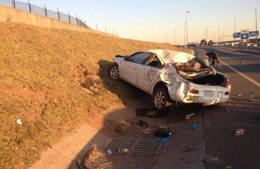 Serious injuries in rollover on the N3 South at the Rand Airport